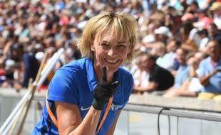 La double championne olympique du saut en longueur Heike Drechsler, ici à Berlin le 2 août 2018.