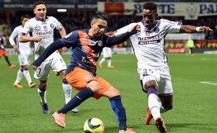 Ryad Boudebouz face à Toulouse, en 2016