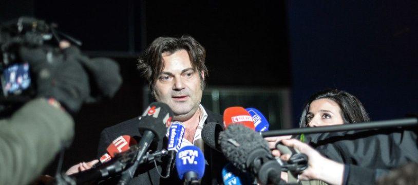 Me Randall Schwerdorffer parle aux journalistes à Besançon, le 30 janvier 2018.