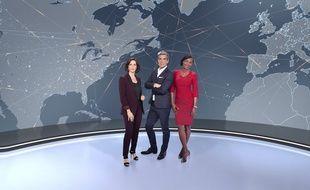 Nathalie Renoux, Xavier de Moulins et Kareen Guiock sont les titulaires des JT de M6