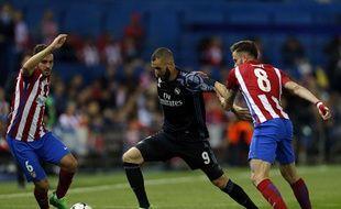 Karim Benzema, le 10 mai 2017 face à l'Atletico Madrid.