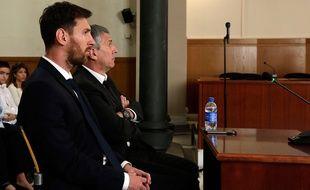 Linel Messi au tribunal de Barcelone, le 2 juin 2016.
