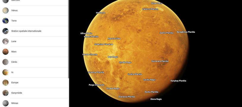 Google Maps permet désormais d'explorer les planètes comme Vénus.