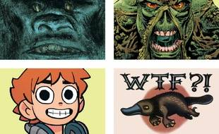 King Kong, La créature des marais, Scott Pilgrim et un Tattoo Flash de Larcenet
