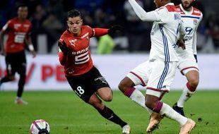 Hatem Ben Arfa a fait souffrir la défense lyonnaise lors de la victoire du Stade Rennais face à l'OL le 5 décembre 18.