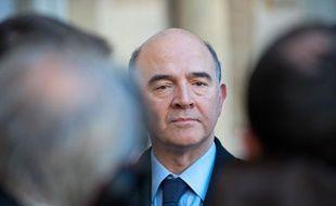 Le ministre de l'Economie Pierre Moscovici, le 19 décembre 2013.