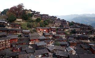 Le village de Miao dans la région autonome de Xinjiang en Chine.