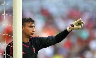 Le jeune gardien du Milan AC Gianluigi Donnarumma (16 ans), lors d'un tournoi amical à Munich, le 23 mai 2015.