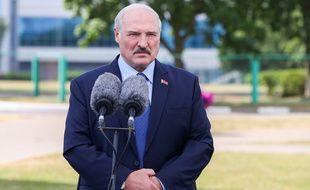 Le président biélorusse réélu Alexandre Lukachenko, le 9 août 2020 à Minsk.