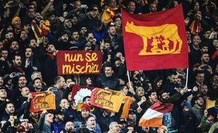 Les supporters romains à Anfield.