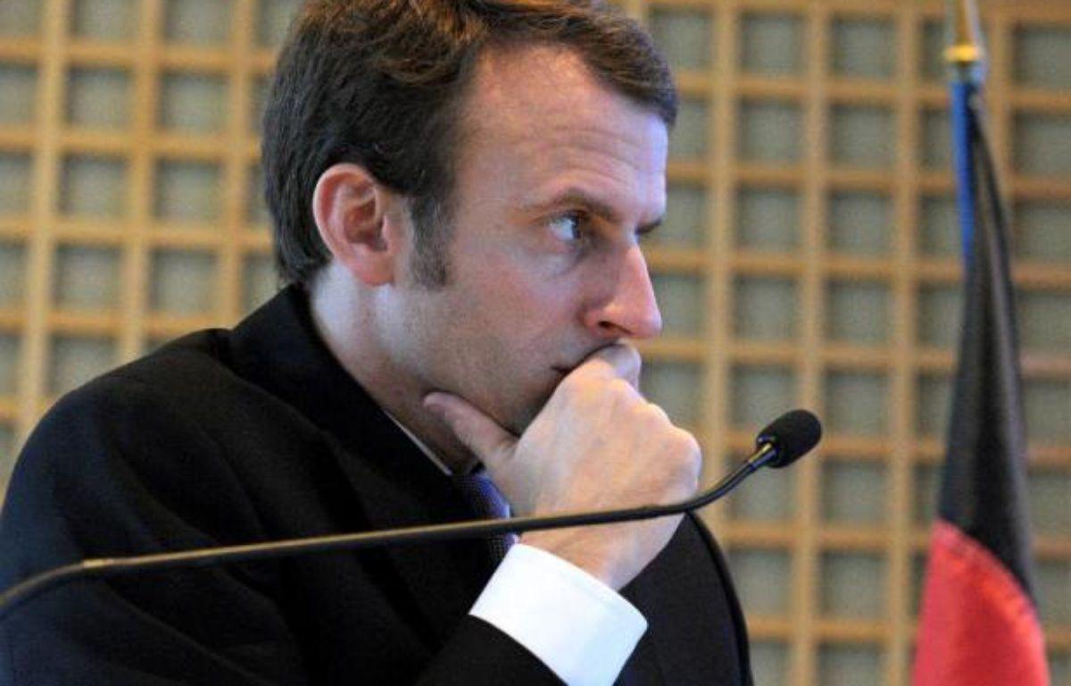 Le ministe de l'Economie Emmanuel Macron le 27 novembre 2014 à Bercy à Paris – Eric Piermont AFP