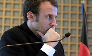 Le ministe de l'Economie Emmanuel Macron le 27 novembre 2014 à Bercy à Paris