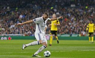 Karim Benzema, auteur d'un doublé contre Dortmund le 7 décembre 2016.