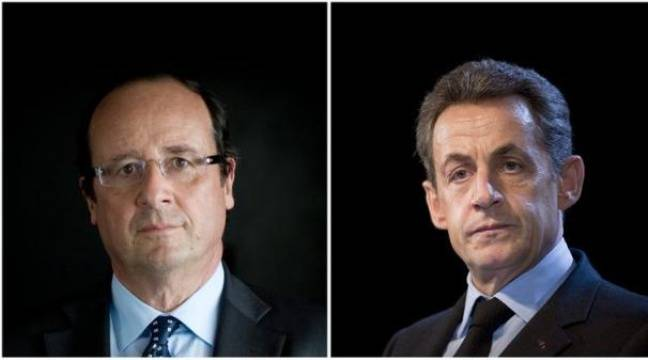 Nicolas Sarkozy et François Hollande ont été invités par huit ONG, dont Greenpeace et France Nature Environnement (FNE), à venir parler d'écologie sur le plateau de i-TELE à une heure de grande écoute. – Lionel Bonaventure afp.com