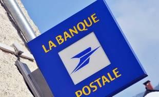 Une enseigne de la Banque postale. Illustration.