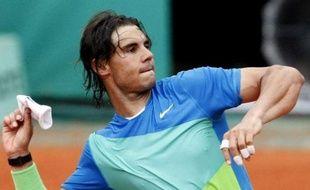 Rafael Nadal sans son bandeau, le 29 mai 2010.