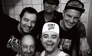Le groupe Elmer Food Beat avec Vincent Lemoine alias «Twistos» (à droite.