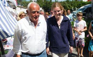 Le maire du Cap-Ferret, Michel Sammarcelli, en 2012 avec Nathalie Kosciusko-Morizet