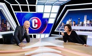 Nicolas Canteloup et Alessandra Sublet sur le plateau de