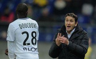 L'entraîneur du Stade Rennais Philippe Montanier, le 21 décembre 2013, àSochaux.