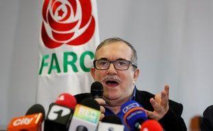 Le président du parti Farc, Rodrigo Londono, le 29 août 2019 à Bogota.