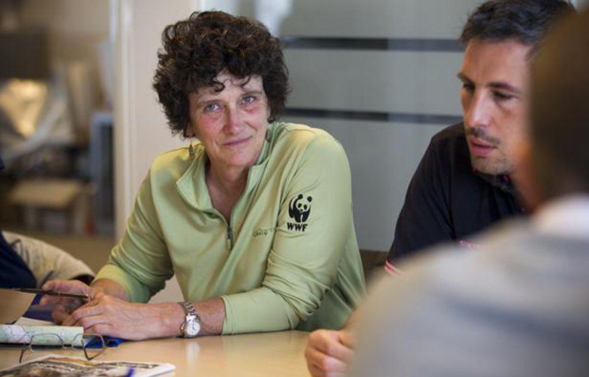 Isabelle Autissier, présidente du WWF France, invitée de la rédaction de 20 Minutes le 18 juin 2013. – V.Wartner / 20 Minutes