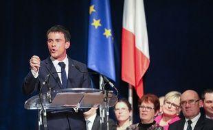 Le Premier ministre Manuel Valls, à Betton en Ile-et-Vilaine, le 27 février 2015.
