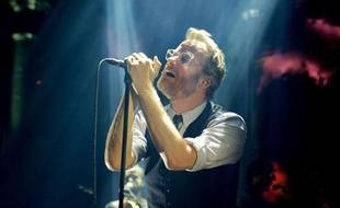 Matt Berninger, chanteur de The National, lors d'un concert à Londres le 26 juin 2013