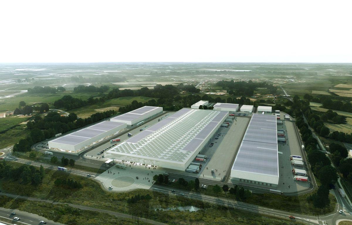 Vue aérienne du futur MIN de Nantes. – Giudice