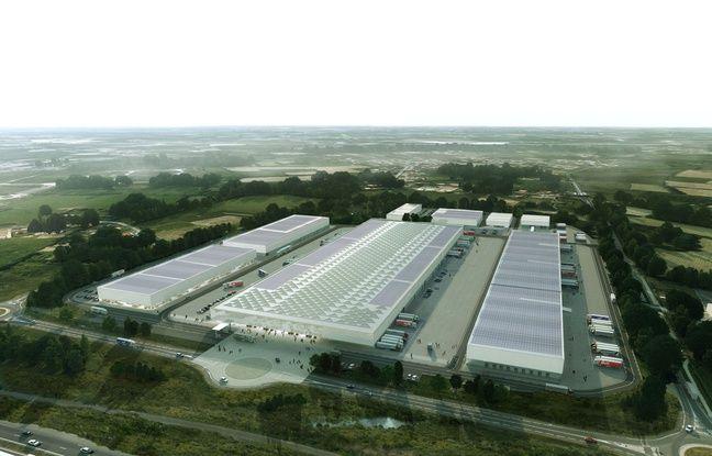 Vue aérienne du futur MIN de Nantes.