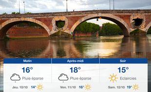 Météo Toulouse: Prévisions du mercredi 9 octobre 2019