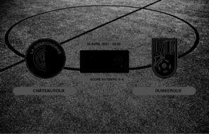 Ligue 2, 32ème journée: L'USL Dunkerque bat Châteauroux 1-2 au stade Gaston-Petit