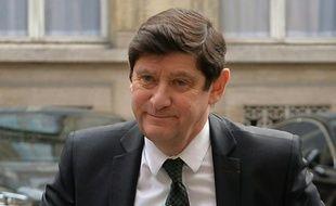 Le ministre de la Ville Patrick Kanner, lors d'une réunion au ministère de l'Intérieur le 23 mars 2016
