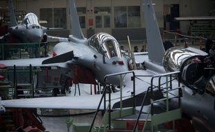 Assemblage de Rafale à l'usine Dassault de Mérignac