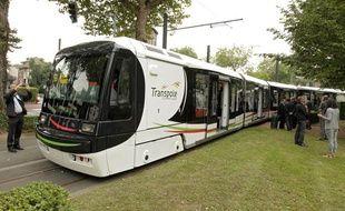 Une rame de tramway de Transpole (illustration).