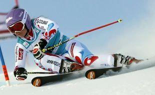 Tessa Worley lors du slalom géant de Saint-Moritz le 15 décembre 2013.
