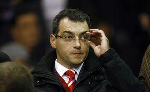 Damien Comolli, le futur président du TFC, lors de son passage à Liverpool, de 2010 à 2012.