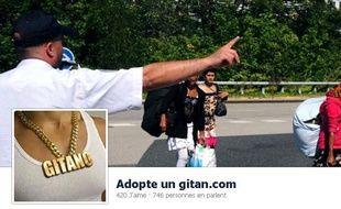 Capture de la page Facebook «adopte un gitan»