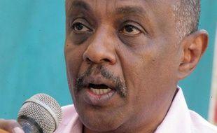Le porte-parole des Forces nationales de consensus (NCF), Mohamed Diaa Eddin s'exprime, le 7 décembre 2014 à Khartoum, après l'annonce de l'arrestation de deux figures de l'opposition