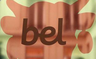 Détail du logo du Groupe Bel, au siège parisien de la société. On reconnaît les contours de la «Vache qui rit».