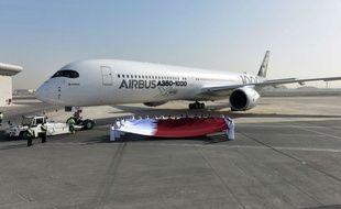 Le nouvel Airbus A350-1000 est arrivé à Doha le 27 janvier 2018 en grandes pompes.