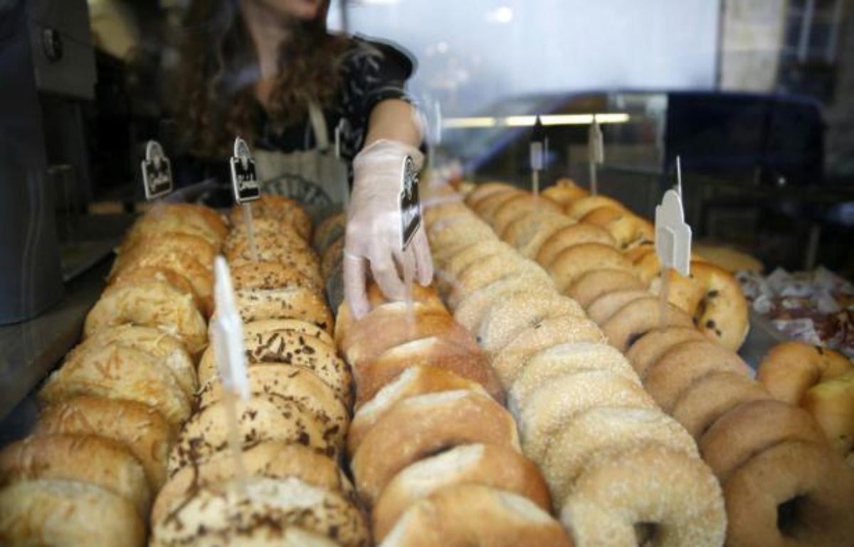 Différents petits pains à bagel dans une boutique Bagelstein à Paris, le 14 septembre 2015 – FLORIAN DAVID AFP