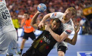 Nicolas Claire face à Montpellier en finale de la Ligue des champions, le 27 mai dernier.