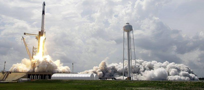 Le décollage de SpaceX depuis Cape Canaveral en Floride et à destination de l'ISS, le 30 mai 2020.
