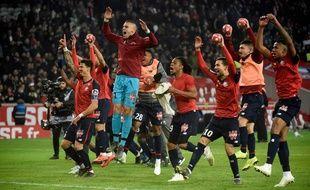 La joie des Lillois après leur large succès contre le PSG