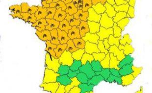 41 départements sont placés en état d'alerte orange.