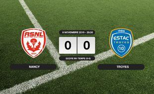 Ligue 2, 14ème journée: Nancy et Troyes se quittent sur un nul (0-0)