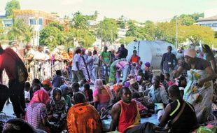 Des personnes chassées de leur domicile, à Mamoudzou à Mayotte, le 17 mai 2016