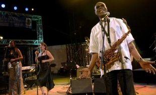 Manu Dibango sur scène