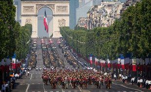 Défilé du 14 juillet 2013 sur les Champs-Elysées, à Paris.